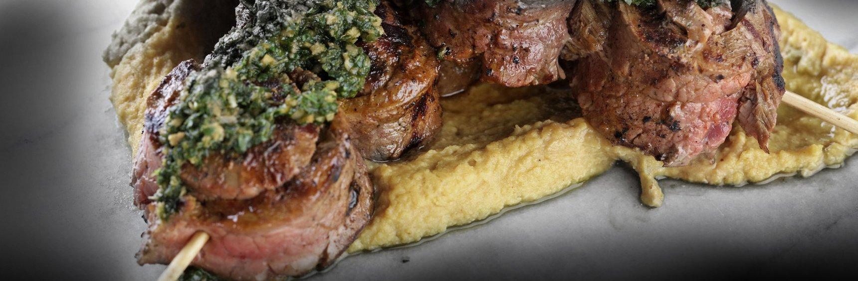 Flank steak tandoori