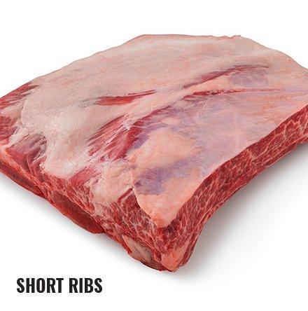 Raw short ribs