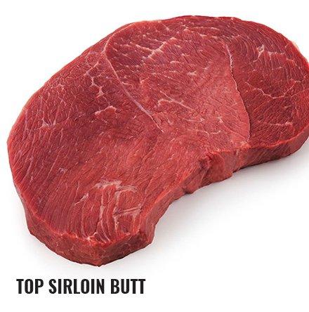 Raw top sirloin butt