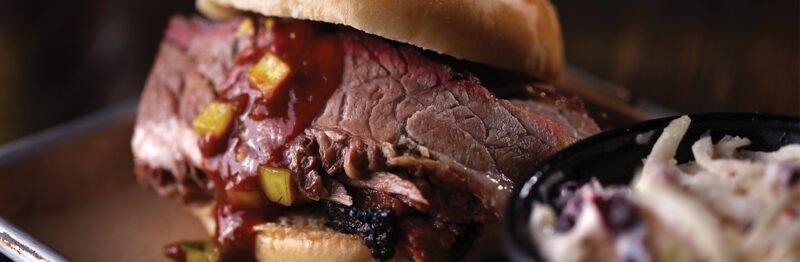 Close up of BBQ pork
