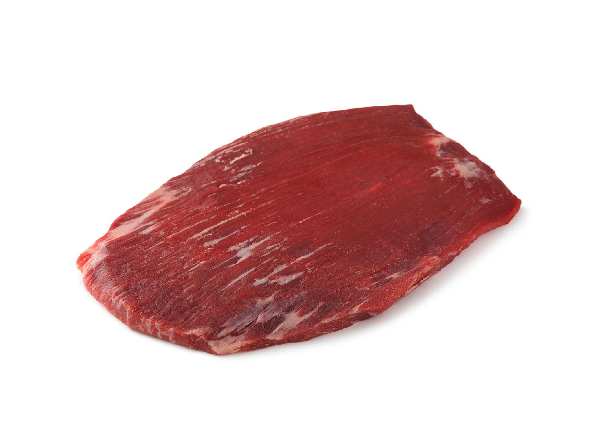 Raw flank steak